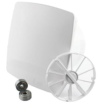 MKK – 18177 – Diseño Moderno Vital Ventilador baño Ventilador Rodamientos Válvula antirretorno Turbo Sensor de