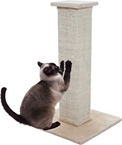 "PETMAKER Sisal Burlap Cat Scratching Post, 28"", Model:80-0247"