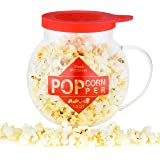 Galashield Microwave Popcorn Popper 1.5QT Temperature Safe Glass and Silicone Lid Popcorn Maker