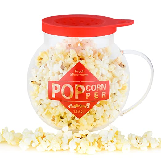 Galashield Microondas Popcorn Popper 1.5QT Temperature Safe Glass ...