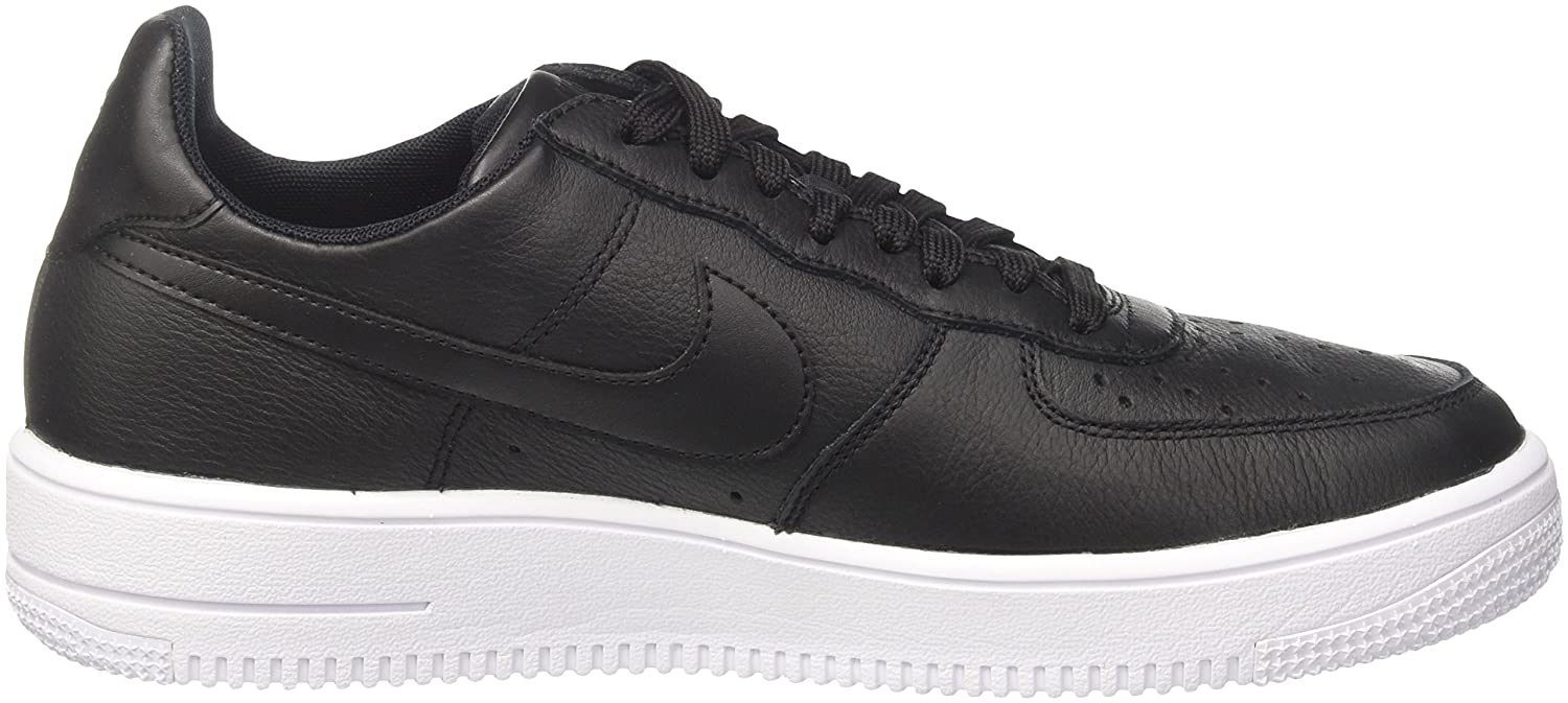 NIKE Men's Air Force 1 Ultraforce Leather Basketball Shoe B005LOW5N0 9.5 D(M) US|Black/Black White
