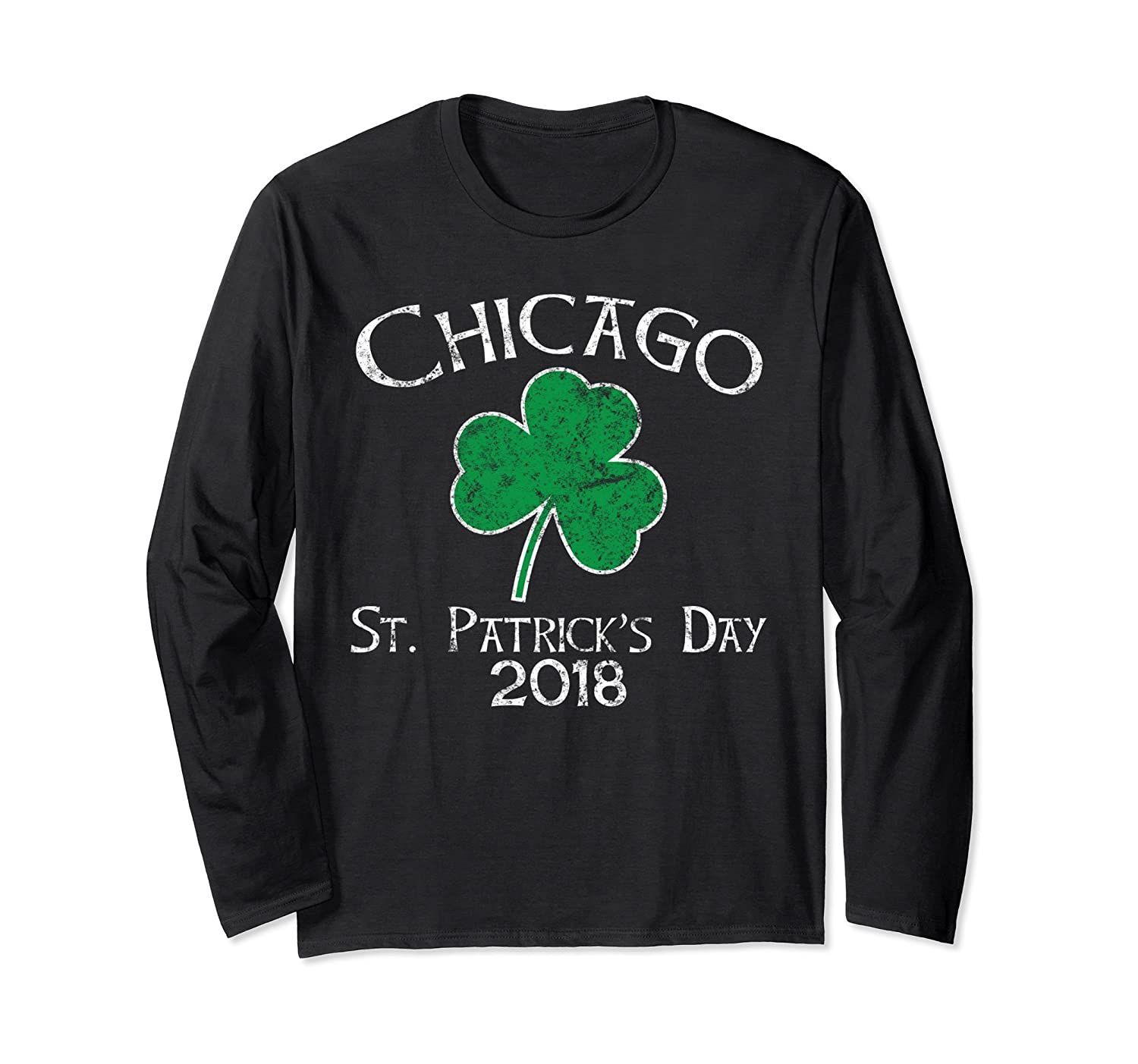 Chicago Patricks Day Shamrock Vintage