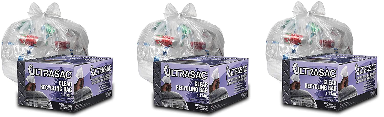 33 Gallon Trash Bag Heavy Duty Large Quality Black Garbage Bags Plastic 100 Pack