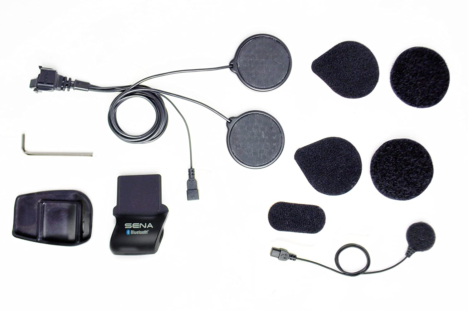 Sena Helmet Clamp Kit with Locking-Type Connector and Wired Microphone for SMH5 Bluetooth Headset Sena Bluetooth SMH5-A0312