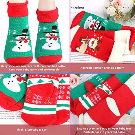 Amazon.com: Gifort 8 Pairs Christmas Holiday Socks Christmas Socks Set with 4 Pairs of Adult Socks and 4 Pairs of Child Socks (2-6 years old) Warm Winter ...