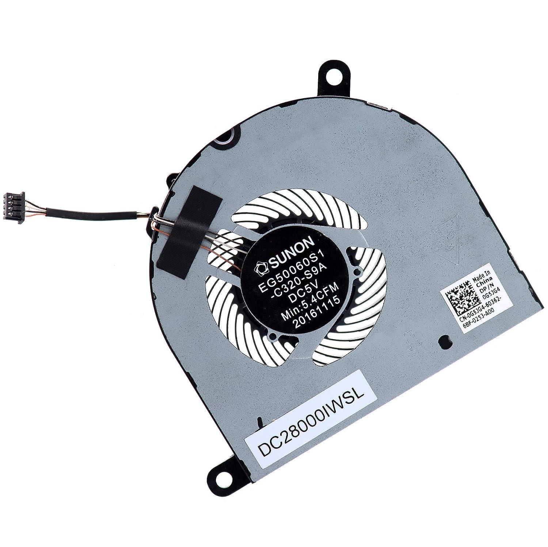 New CPU Cooling Fan DC28000IWSL for Dell Latitude 5480 5580 5490 5491 5495 E5480 E5580 E5490 E5491 E5495 0P5F39 P5F39 G5JG4