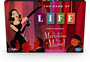 Hasbro Gaming The Game of Life: The Marvelous Mrs. Maisel Edition Board Game; Inspired by The Amazon Original Prime Video Series (Amazon Exclusive)