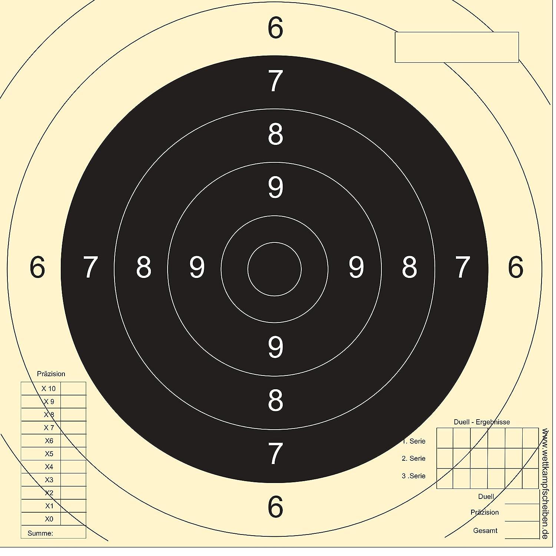 250 tiro Discos Sport Pistola Precisió n Druckteam Schleede & Partner 135