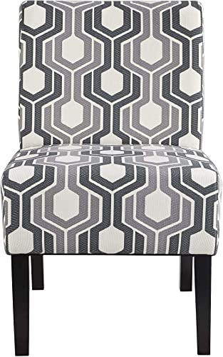 Topeakmart Upholstered Accent Chair Contemporary Slipper Chair Side Chair