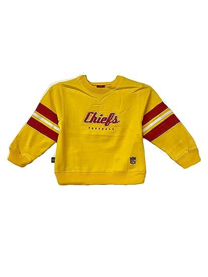bffb81e8 Kansas City Chiefs NFL Reebok Kids Yellow Pullover Crewneck Sweater