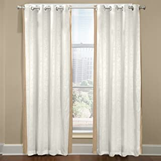 product image for Veratex The Central Park Collection Made in The U.S.A. 100% Linen Living Room Rod Pocket Window Panel Curtain, Gray, 63""