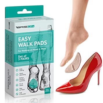 723e5964e8282 Ball of Foot Cushions High Heels - 3 Pairs (6 Pieces) - Soft Gel Insole  Metatarsal Pads Shoe Inserts -...