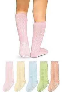 cc3db6c9e Amazon.com  LA Active Knee High Grip Socks - 5 Pairs - Baby Toddler ...