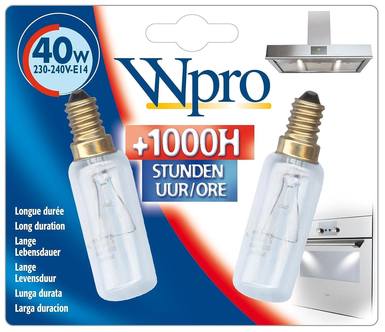 Whirlpool Wpro Cooker Hood Lamp Bulb, 40 W, Pack of 2 [Energy Class A] Maddocks B000PZU0NW