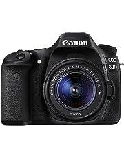 Canon EOS 80D Single Kit with EFS 18-55mm f 3.5-5.6 IS STM Digital Camera - SLR(80DKIS) 3Inch Display,Black (Australian warranty)