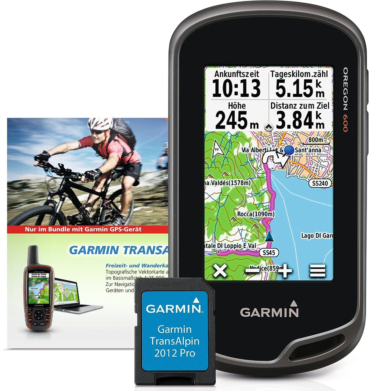 Garmin Oregon 600 Plus Transalpin V4 Pro Micro-SD GPS Outdoor Navi mit 3-Zoll-Touchscreen und Active Routing