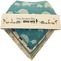 Premium Baby bavaglini bandana, 100% cotone biologico, set di 5unico design