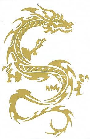 Drache Gold Drachen Drogo Sticker Aufkleber Folie 1 Blatt 270 Mm X 180 Mm Wetterfest Auto