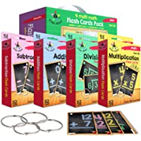 Star Right Multi Math Flashcards Pack - Addition, Subtraction, Multiplication, & Division - 1 Ring and 52 Hole Punched…