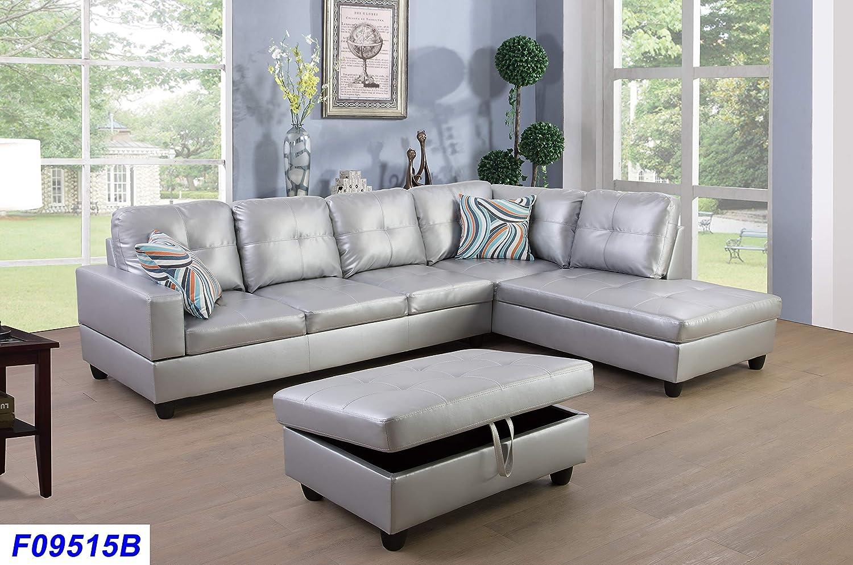Amazon.com: Lifestyle - Juego de sofá de 3 piezas, piel ...