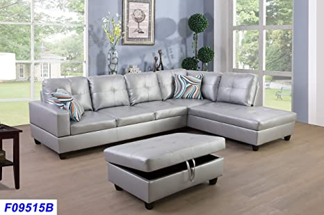 Excellent Amazon Com Lifestyle Furniture Right Facing 3Pc Sectional Dailytribune Chair Design For Home Dailytribuneorg