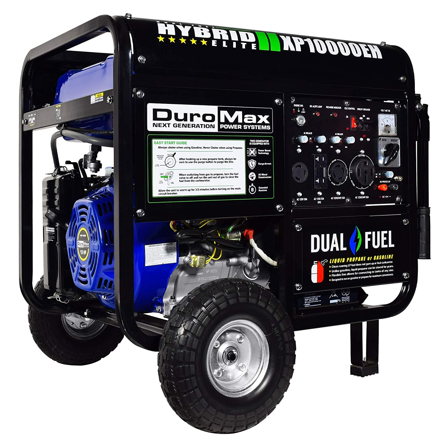 Duromax Xp10000eh 10000 Watt Dual Fuel Hybrid Generator International Durastar Air Tank Schematic W Elec Start 50 State Garden Outdoor