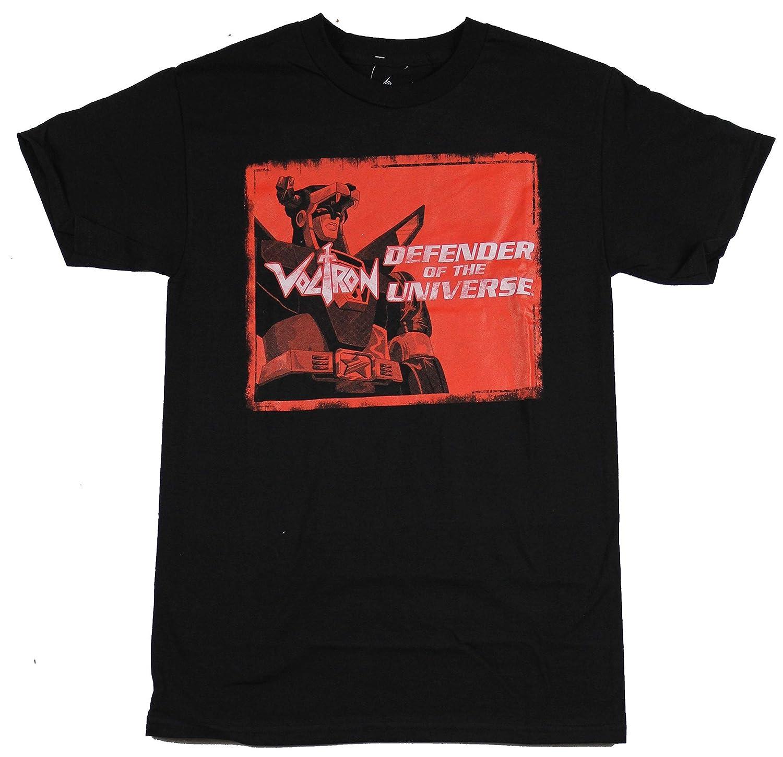 e82b03da8 Amazon.com: Voltron Pop Defender of the Universe Men's T-Shirt - Black:  Clothing