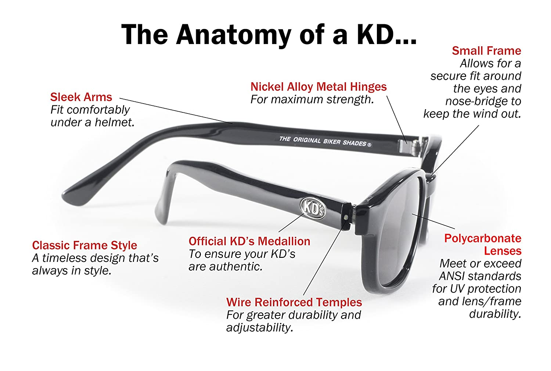 864a91111fa Amazon.com  Pacific Coast Original KD s Biker Sunglasses (Black Frame Dark  Grey Lens)  Automotive
