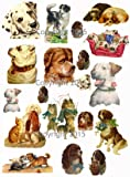 Vintage Victorian Dogs Collage Sheet #103 Art