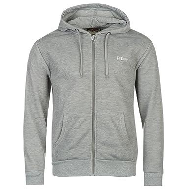 1fb507100567 Lee Cooper Full Zip Hoody Mens Grey Hoodie Hooded Jacket Sweatshirt ...