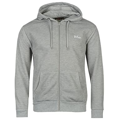 0da8902f19 Lee Cooper Full Zip Hoody Mens Grey Hoodie Hooded Jacket Sweatshirt Top   Amazon.co.uk  Clothing