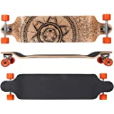 MAXOfit® Deluxe Longboard GeoLines Bamboo No.33, Drop Down, 104 cm, 9 Schichten, ABEC11