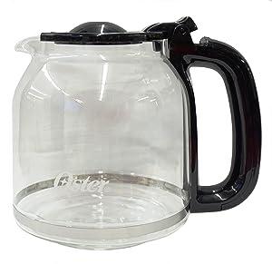 Oster Glass Carafe, Black, for Model: BVST-JBXSS41, 154448-000-000