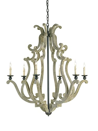 Currey And Company 9636 Durand Six Light Chandelier Old