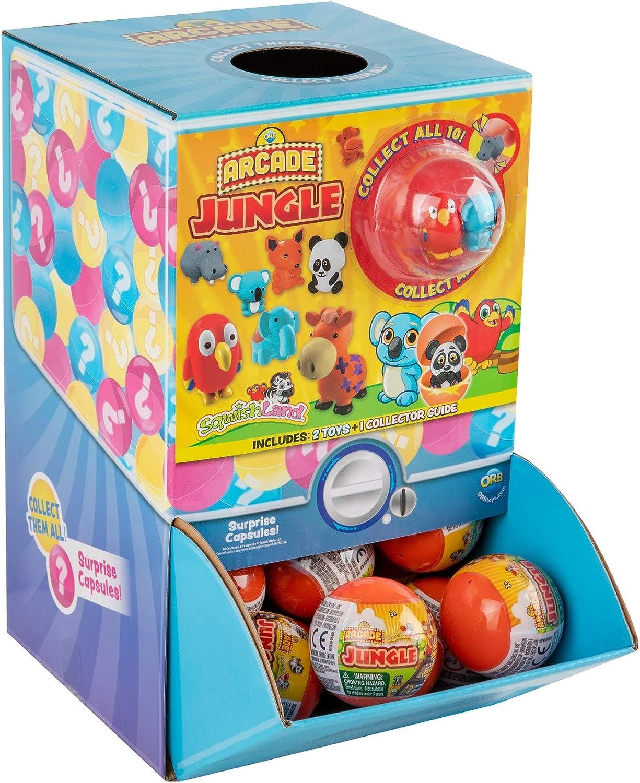 48 Capsules Display ORB Arcade Capsules Squish Jungle Collection