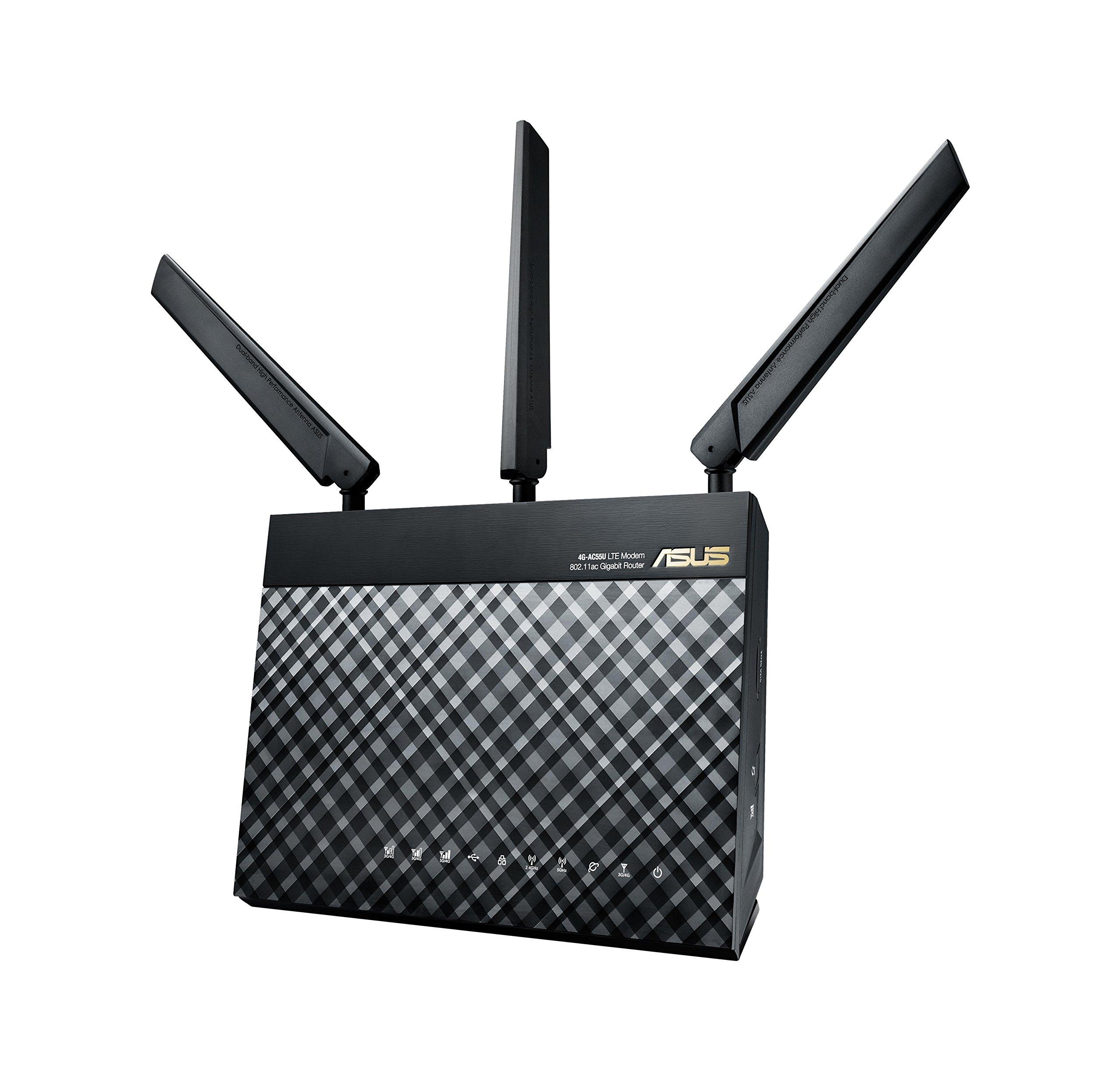 Asus 4G-AC55U AC1200 LTE WIRELESS-AC1200 LTE MODEM, 90IG01H0-BM3000 (WIRELESS-AC1200 LTE MODEM)