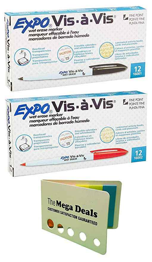 Amazon.com : Expo Vis-a-Vis Wet-Erase Marker, Fine Point ...
