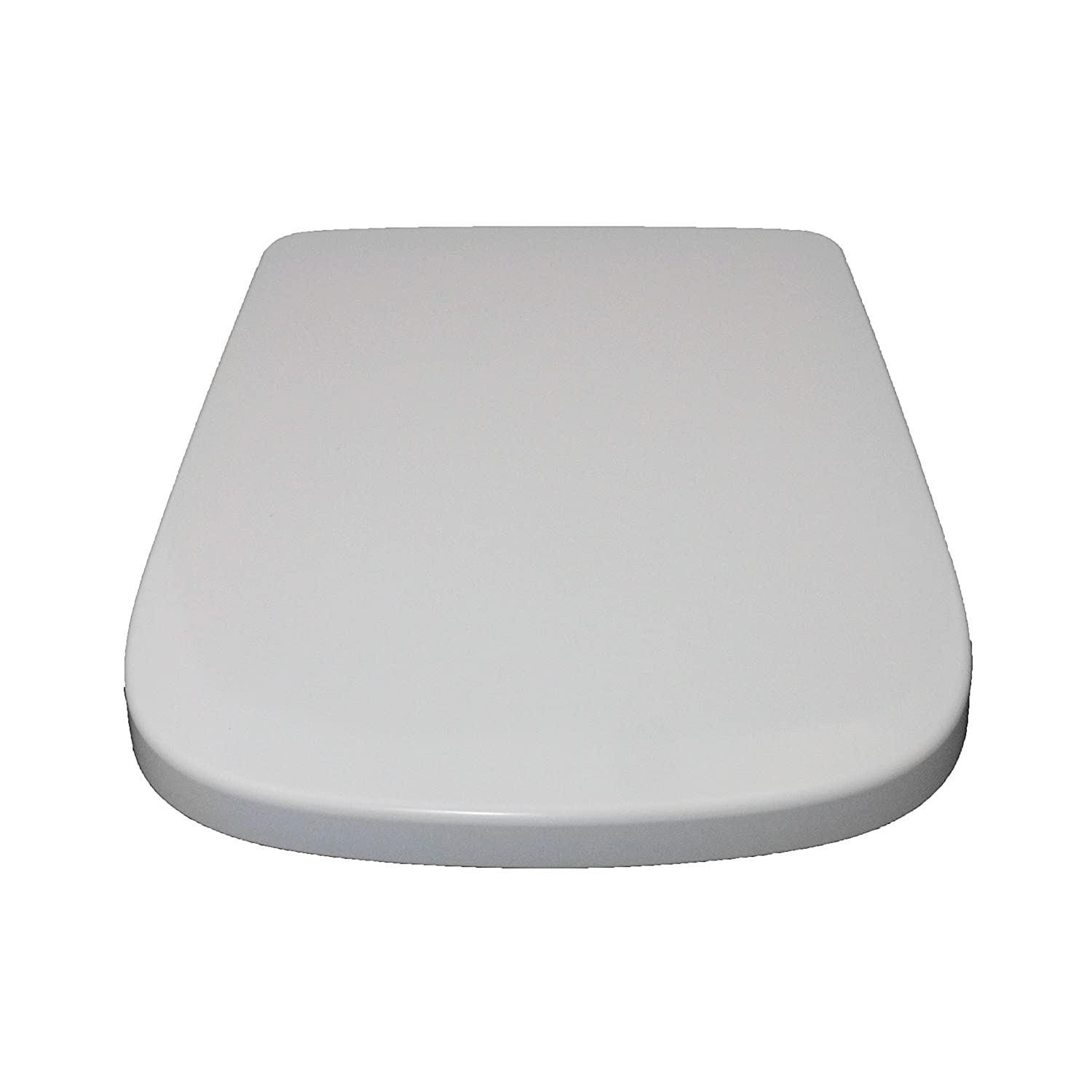 Home Standard® White Luxury D-Shape Quick Release Soft Close Toilet Seat | Squared Edges | Top Fix & Easy Clean