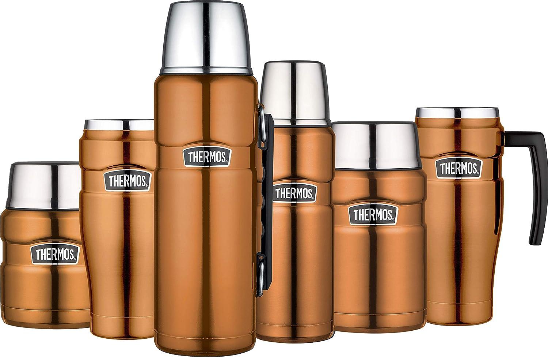 Thermos Très grande flasque de 1,2/ acier inoxydable Acier inoxydable 9.4 x 10.5 x 31 cm 105027 Gun Metal