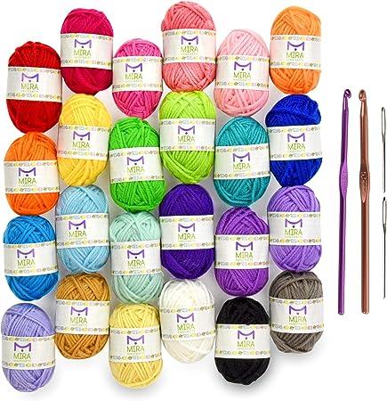 40 Yarn Skeins Multi Colors Knitting Crochet Acrylic Balls Mixed Starter Kit New