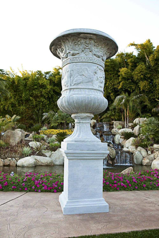 Amedeo Design ResinStone 1900-11T Framed Pedestal, 24 by 24 by 53-Inch, Terra Cotta by Amedeo Design