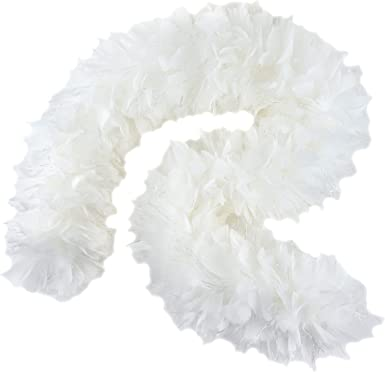 White 5-Foot Turkey Feather Boa!