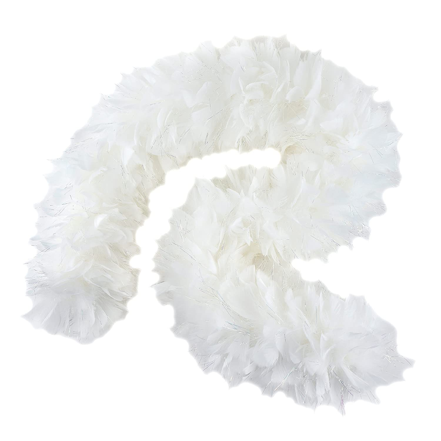 Zucker Feather (TM) - Turkey Boas w/Opal or Black Lurex White w/Opal Lurex ZUCKER FEATHER PRODUCTS 5-SF120--Y
