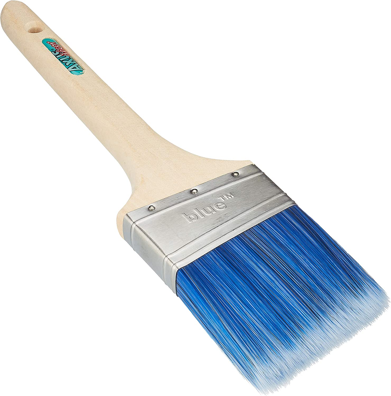 "Axus Decor Blue Pro-Brush 3 Piece Synthetic Paint Brush Set 1 x 1/"" 1.5/"" and 2/"""