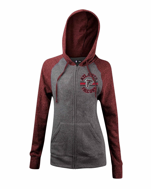 399e956e NFL Atlanta Falcons Women's Tri-Blend Fleece Zip Up Hoodie with ...