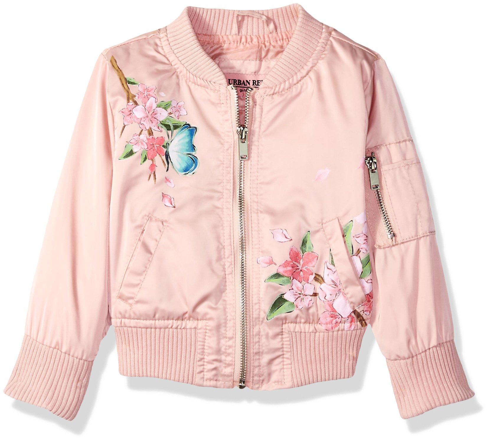 Urban Republic Little Girls' Poly-Sateen Jacket, Pink, 5/6