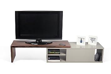 TemaHome Move Mobile Porta TV, Legno, Noce/Grigio, 110x35x25 cm ...