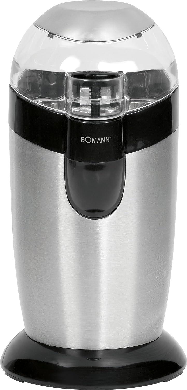 Bomann KSW CB Molinillo de café eléctrico acero inoxidable W color gris
