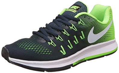 43a1f03989ab Image Unavailable. Image not available for. Colour  Nike Men s Air Zoom  Pegasus 33 Green Running Shoes ...