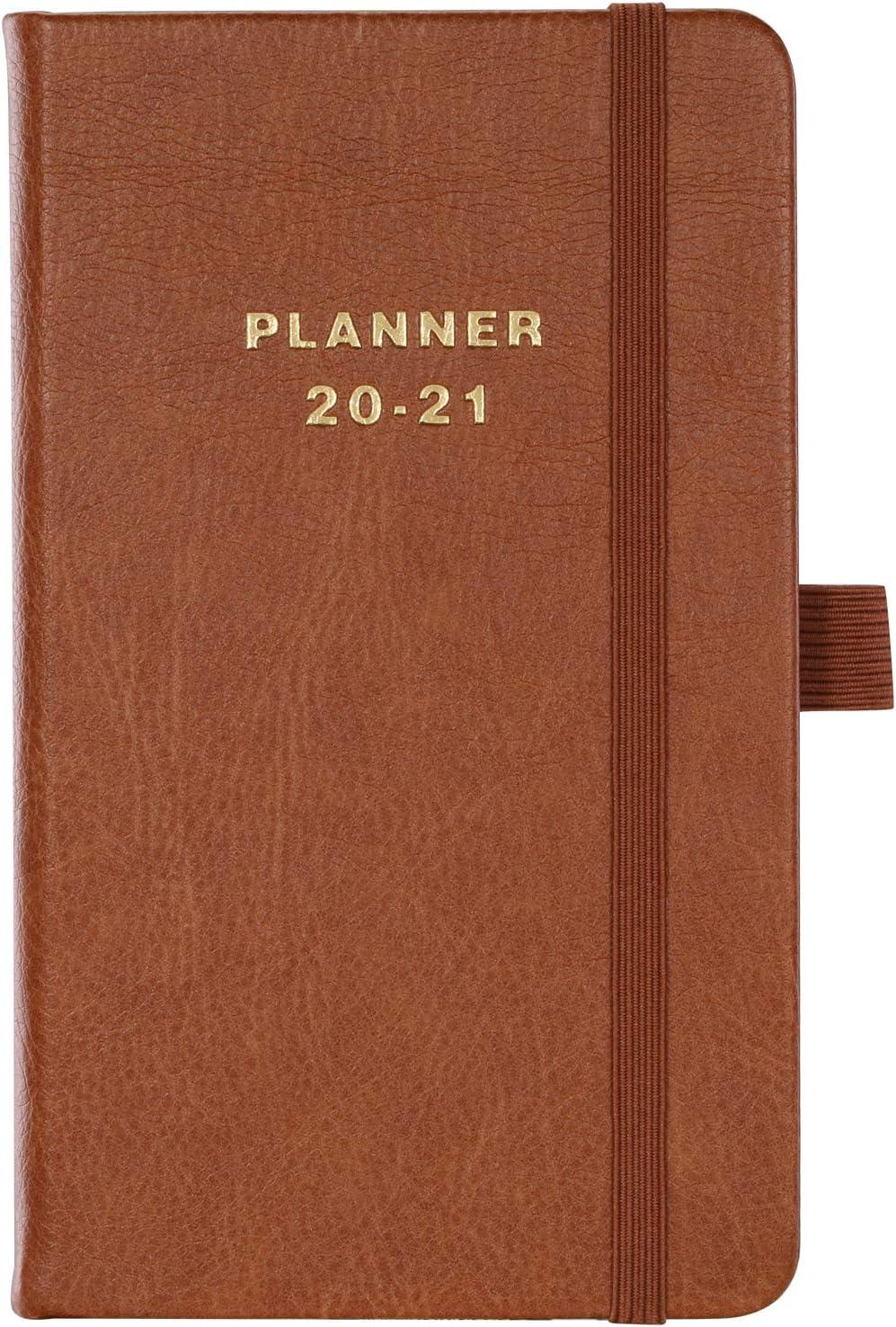 Agenda de bolsillo, 2020 2021 Agenda semanal a6, 12 meses, 16x10cm
